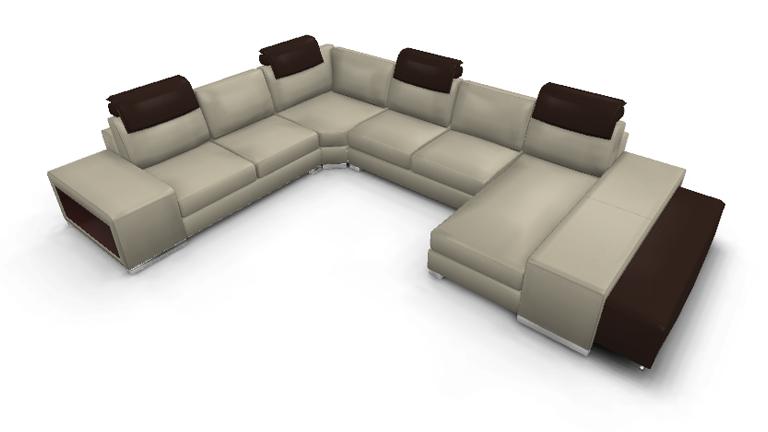 canapé cuir angle xl Genesis