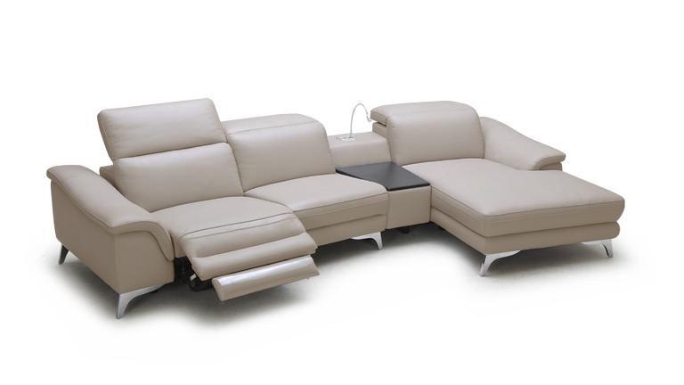 Canapé angle cuir design Glicy