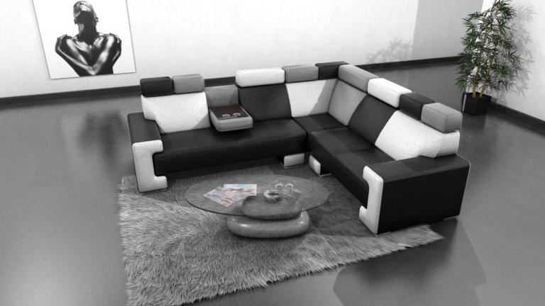 Canapé cuir tricolore Yoocub