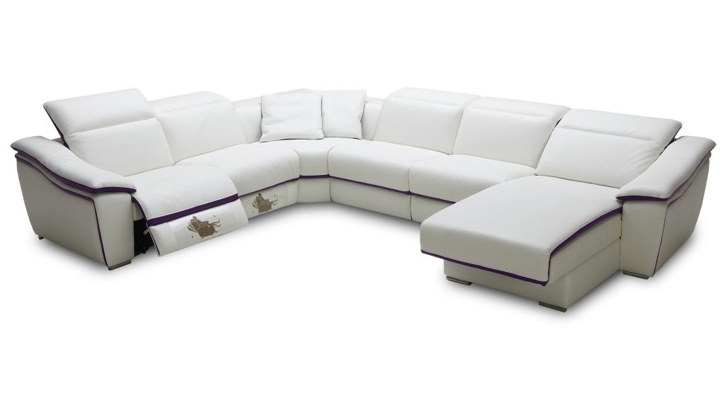 Canapé panoramique angle cuir Hypocus