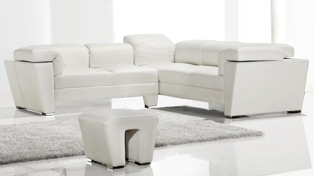 Canapé d'angle design blanc Tarck