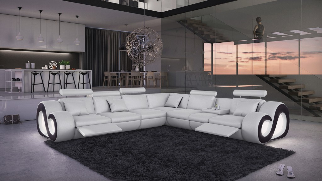Canapé d'angle Xl lumineux Nestea