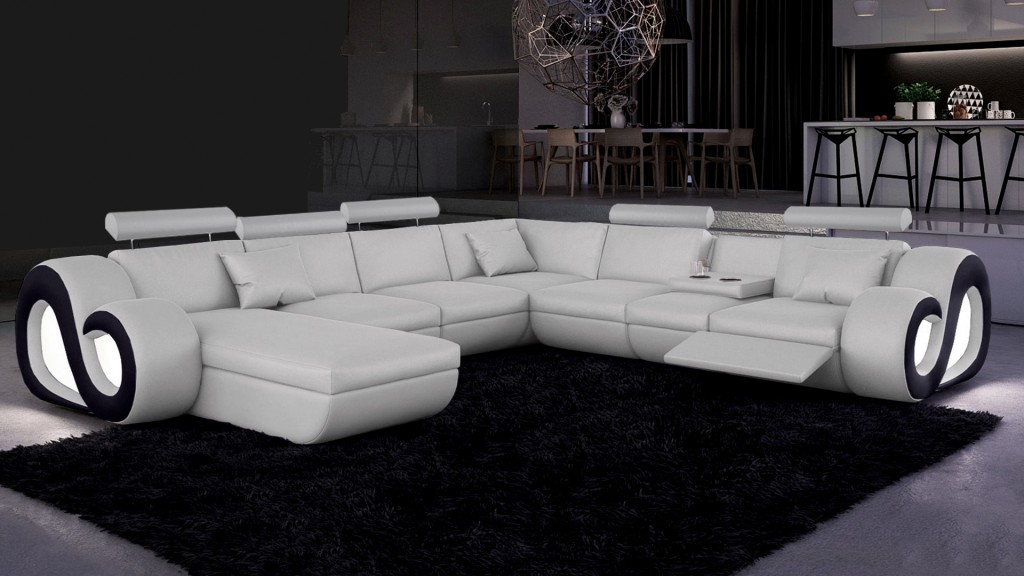 Canapé d'angle panoramique avec lumière Nestea