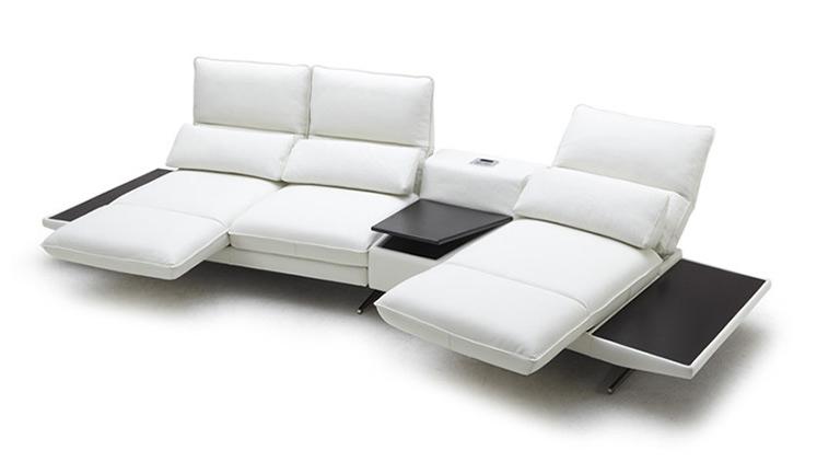 Canapé blanc angle Galliana