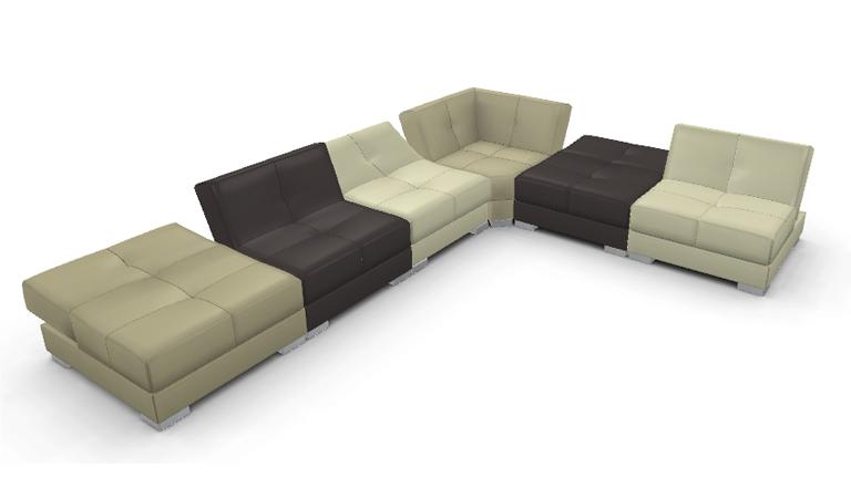 Canapé panoramique modulable Reva